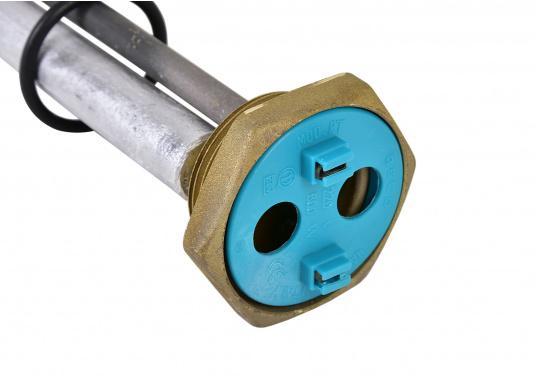 SIGMAR - Heizelement 800 W / 220 V für Warmwasser-Boiler. Dieses Heizelement passt in die Warmwasser-Boiler aus unserem Sortiment. Es ist speziell für den Einsatz in Druckwasser-Systemen vorgesehen. (Bild 2 von 3)