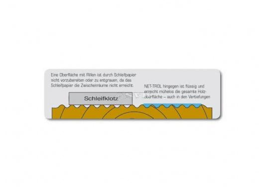 Reinigt mühelos alle Holzsorten, bringt graues Holz wieder in den Originalfarbton!Geeignet für Möbel, Terrassen, Boote etc. NET-TROL dienst als Reiniger, Aufheller, Entgrauer und Neutralisator nach stark alkalischen Behandlungen. (Bild 3 von 3)