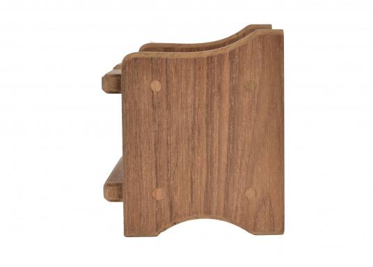 Becherhalter, gefertigt aus hochwertigem Teak-Holz.Loch-Ø: 8 cm, 12,5 x 11,5 x 10 cm. (Bild 3 von 4)