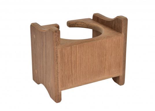 Becherhalter, gefertigt aus hochwertigem Teak-Holz.Loch-Ø: 8 cm, 12,5 x 11,5 x 10 cm. (Bild 4 von 4)