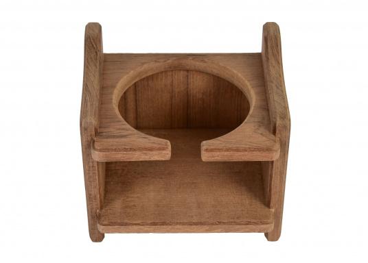 Becherhalter, gefertigt aus hochwertigem Teak-Holz.Loch-Ø: 8 cm, 12,5 x 11,5 x 10 cm. (Bild 2 von 4)