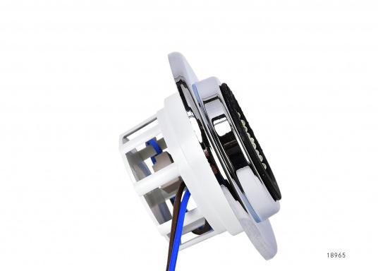 Eleganter LED-Einbaustrahler. Mit seinem verchromten Abdeckring ist dieser Strahler ein Schmuckstück für jede Inneneinrichtung. Ausgestattet mit 12 LEDs, Lichtfarbe warmweiß.  (Bild 3 von 3)