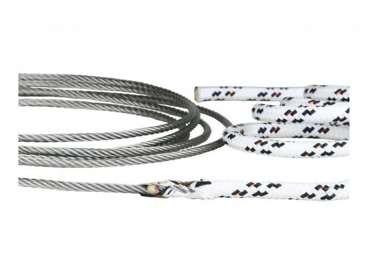 A perfect connection! We splice rope on wire according to your specifications.