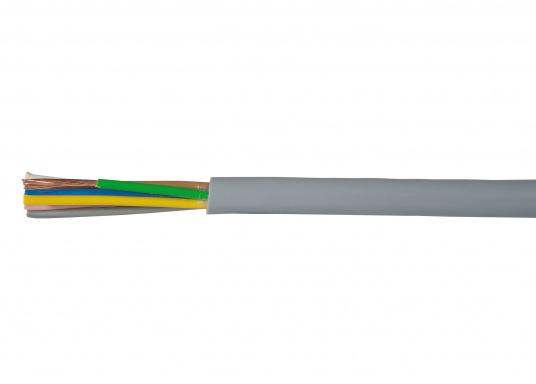 7-wire installation cable for trailer. Suitable for flexible application andfixed cable-laying. High-grade PVC insulation according to DIN VDE 0281. Price per meter.