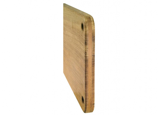 Praktisch und schick! Dieses Fenderbrett aus massivem Kambala-Holz wird vor mehrere Fender gehängt, so wird das Rutschen der Fender in die Spundwand verhindert .  (Bild 2 von 4)
