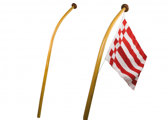 Curved Flag Poles from 26,95 € buy now | SVB Yacht and boat equipment
