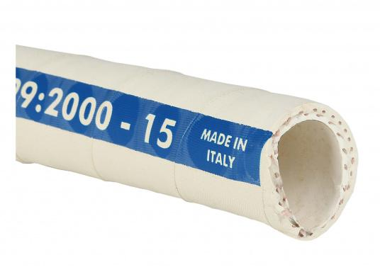 "High-quality sanitation hose with odour-proof barrier. Available in three sizes: inner diameter: ¾"" (19 mm), 1"" (25 mm) and 1½"" (38 mm). (Imagen 2 of 2)"