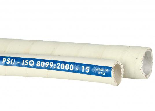 "High-quality sanitation hose with odour-proof barrier. Available in three sizes: inner diameter: ¾"" (19 mm), 1"" (25 mm) and 1½"" (38 mm)."