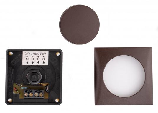 Passend für die Berker-Serie ist ein stromsparender Gleichspannungsdimmer mit speziellen Schutzfunktionen für Halogenlampen lieferbar. Max. Belastbarkeit 60 Watt.  (Bild 5 von 5)