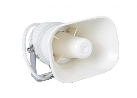 Hochwertig und kompakt! Dieser Hornlautsprecher wurde speziell für Gegensprechanlagen auf See und in anderen industriellen Umgebungen konzipiert. Das Gerät kann gleichzeitig als Lautsprecher und Mikrofon verwendet werden.