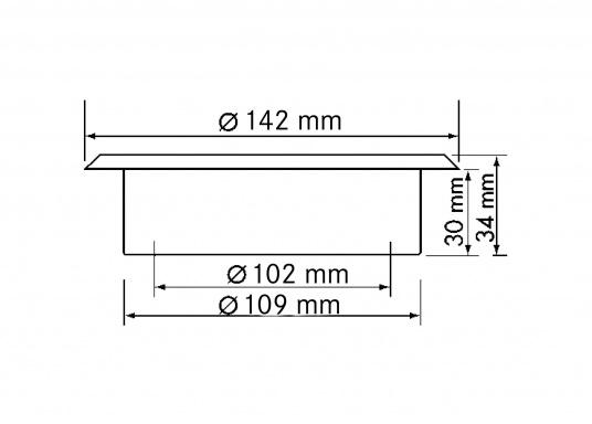 Diese hochwertige Decksdurchführung aus Edelstahl ist ideal geeignet fürNotpinnen, Schläuche, Elektrokabel etc.Lieferung komplett mit Einbauflansch und Deckel. (Bild 4 von 4)