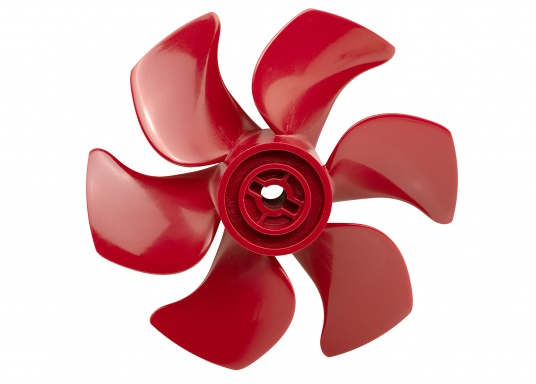 6-Blatt-Propeller für Bugschrauben mit einem hydrodynamisch optimierten Wirkungsgrad. Der Propeller verursacht nur sehr wenig Kaviation und hat einen sehr niedrigen Geräuschpegel. Erhältlich in verschiedenen Ausführungen.  (Bild 6 von 8)
