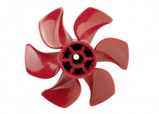 6-Blatt-Propeller für Bugschrauben mit einem hydrodynamisch optimierten Wirkungsgrad. Der Propeller verursacht nur sehr wenig Kaviation und hat einen sehr niedrigen Geräuschpegel. Erhältlich in verschiedenen Ausführungen.  (Bild 2 von 8)