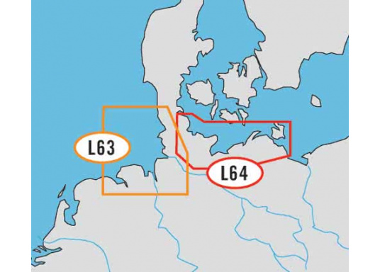 Shipping routes in good size and always cutting edge!C-MAP NT + EN-C162 / Eemshaven to SyltC-MAP NT + EN-C163 / Flensburg to Ruegen