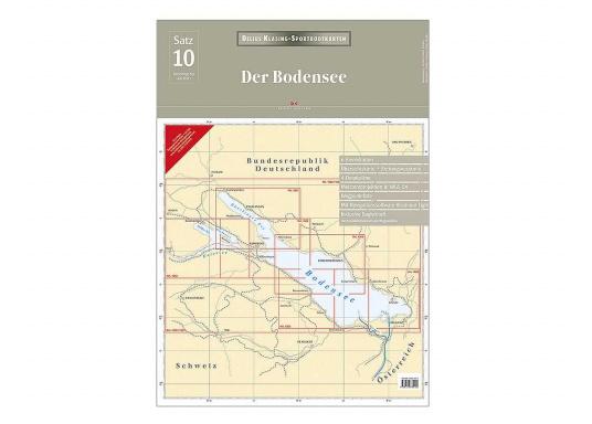 Sportbootkarten 10 - Bodensee: Überlinger See, Ober- und Untersee, inklusive 1 Übersegler, 6 Karten, Wegpunktliste.