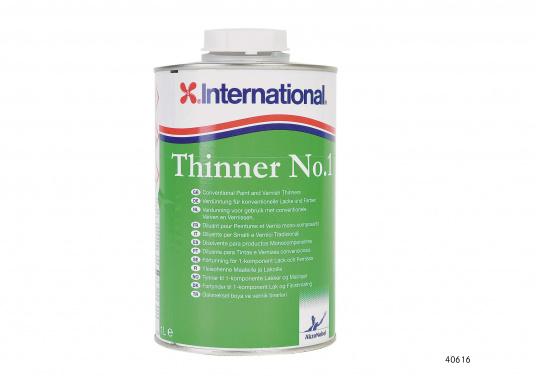 Verdünnung Nr.1 ist ein Mehrzweckverdünner und Gerätereiniger für 1K-Lacke und Farben (außer BRIGTHSIDE und PRIMOCON). Inhalt: 1000 ml.