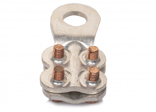 These cable lugs with srews are available in various sizes.   (Image 6 of 14)