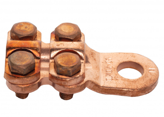 These cable lugs with srews are available in various sizes.   (Image 8 of 14)