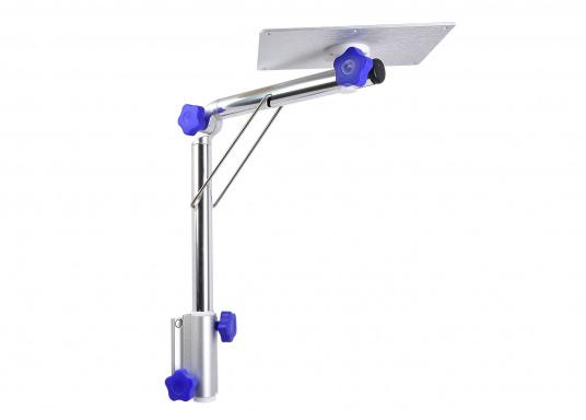 Das praktische Tisch-Untergestell ist klappbar und schwenkbar und kann leicht von der Montageplatte gelöst werden. Passende Tischplatten sind optional erhältlich.  (Bild 3 von 12)