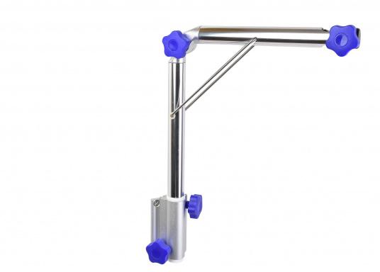 Das praktische Tisch-Untergestell ist klappbar und schwenkbar und kann leicht von der Montageplatte gelöst werden. Passende Tischplatten sind optional erhältlich.  (Bild 5 von 12)