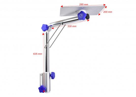 Das praktische Tisch-Untergestell ist klappbar und schwenkbar und kann leicht von der Montageplatte gelöst werden. Passende Tischplatten sind optional erhältlich.  (Bild 11 von 12)