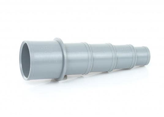 Universal Schlauchverbinder / Reduzierstück aus stabilem Kunststoff gefertigt. Lieferbar in zwei Größen. Für Schläuche 13 - 38 mm oder 32 - 59 mm.
