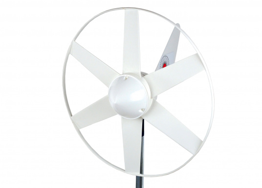 Particularly suitable for use in the leisure sector to maintain battery charge in boats, summer houses, mountain shelters or mobile homes. This wind generator offers a high efficiency due to its aerodynamic design.