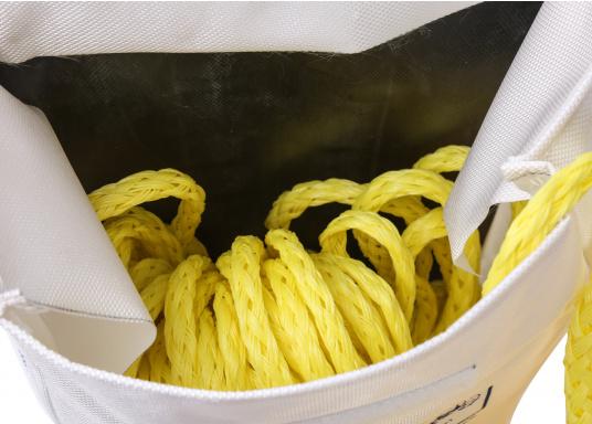 Harnais de récupération d'homme à la mer comprenant un gilet, une ligne et une ceinture. Ce système permet de remonter à bord une personne d'un poids supérieur au votre.  (Image 3 de 4)