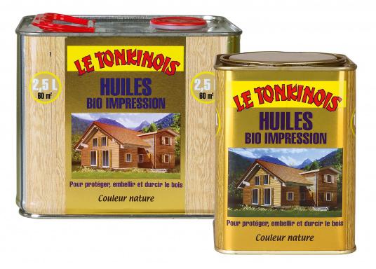 Spezielles Imprägnierungs-Öl für Teakholz und Gartenmöbel, satiniert. Grundierung für LE TONKINOIS, für alle Holzarten geeignet. Geruchslos, farblos, scheuerbeständig und schnell trocknend. Gewährleistet einen wirksamen Langzeitschutz, verschönert und härtet das Holz.