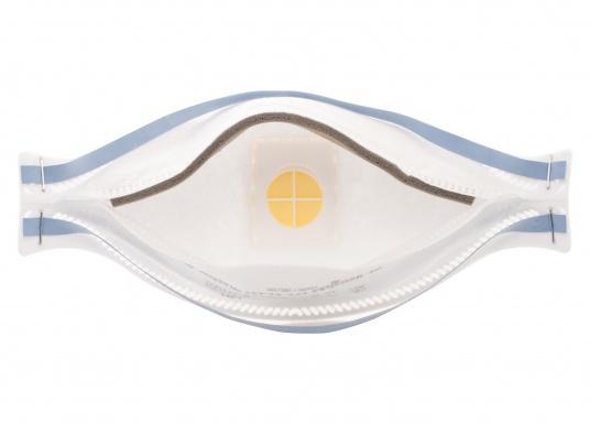 Hochwertige Atemschutzmaske, erfülltdie besonderen Anforderungen der Staubeinlagerungsprüfung (clogging) für FFP2 Masken. Die Atemschutzmaske bietet ausgezeichneten Tragekomfort und hohe Sicherheit.  (Bild 5 von 7)