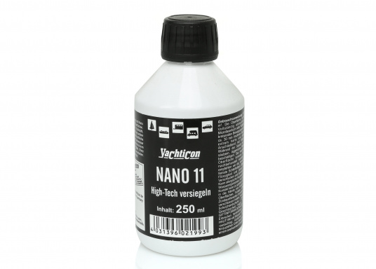 NANO 11/12 seals gelcoat, varnish, high-grade steel, synthetics, aluminum, glass, PVC and many other surfaces. With long-term protection and &quot&#x3B;easy to clean&quot&#x3B; effect.