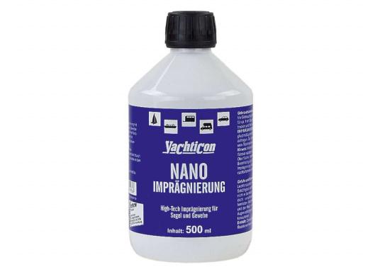 Die innovative High-Tech Imprägnierung erzeugt eine sehr dünne, transparente Nano-Schutzschicht, die Segel und Gewebe wasserdicht beschichtet und auch salzwasserbeständig ist.