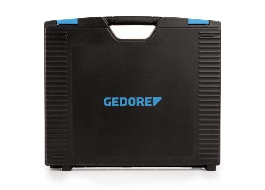 Gerüstet für alle Fälle –mit diesem Werkzeugkoffer haben Sie alles immer sofort griffbereit!Alle 47 verchromten GEDORE Vanadium-Werkzeuge sind gut eingeordnet und fest eingeklemmt. (Bild 2 von 8)