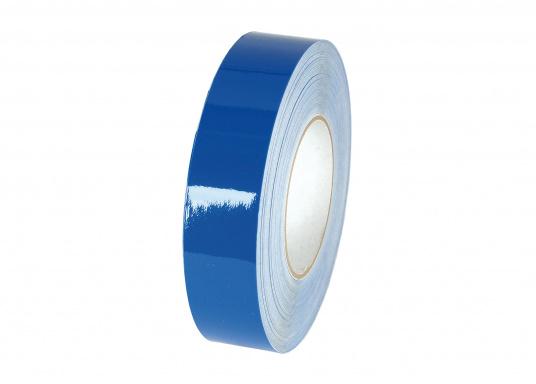 Die Zierstreifen in den Farben Rot, Blau und Weiß sind vielseitig verwendbar. Sie bestehen aus extrem dünnem, hochflexiblem Vinylband. Kein Kantenabwurf beim Abdecken enger Kurven.