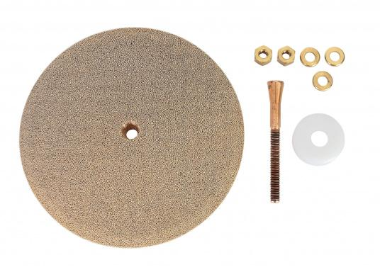 Besserer Empfang für IhreGPS-Geräte, Wetterdecoder, Wetterfax-Empfänger, sowie GW/KW-Sender! Die Erdungsplatten aus porösem Bronzematerial sorgen für den Erhalt der richtigen Masse und für eine Entstörung. (Bild 8 von 8)