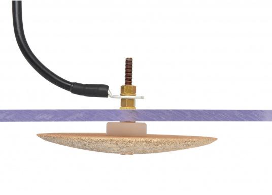 Besserer Empfang für IhreGPS-Geräte, Wetterdecoder, Wetterfax-Empfänger, sowie GW/KW-Sender! Die Erdungsplatten aus porösem Bronzematerial sorgen für den Erhalt der richtigen Masse und für eine Entstörung. (Bild 6 von 8)