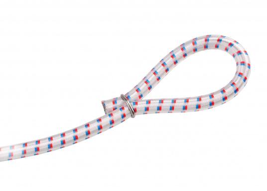 Praktische Edelstahl-Krampen, passend für Gummileinen oder geflochtenes Tauwerk. Lieferbar für verschiedene Durchmesser: 4, 5 + 6, 8 oder 10 mm. Packungsinhalt: 10 Stück.Eine Krampenzange ist separat erhältlich.    (Bild 2 von 2)