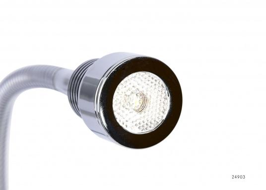 Das schlanke Design macht diese LED-Flexleuchten zu einem idealen Begleiter an Bord:Ob an der Koje für Leseratten, am Kartentisch oder in der Leseecke, sie fügt sich überall perfekt ein.  (Bild 3 von 7)