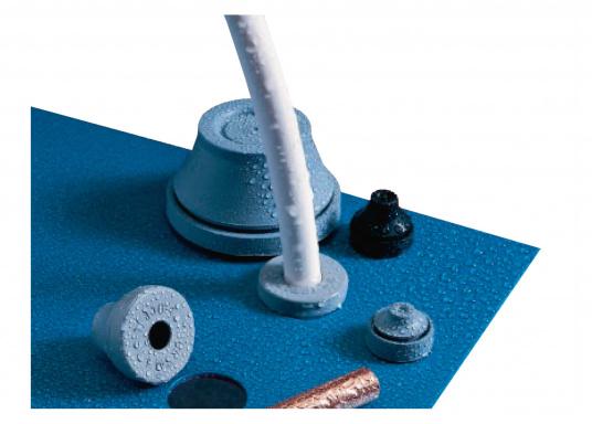 Blitzschnelle Montage für eine staub- und wasserdichte Kabel- und Rohreinführung. Diese Kabeldurchführungen sind gut geeignet für die Verwendung bei Bohrungen ohne Gewinde bei Wandstärken von 0,5 - 4 mm. Erhältlich in verschiedenen Größen. (Bild 7 von 7)