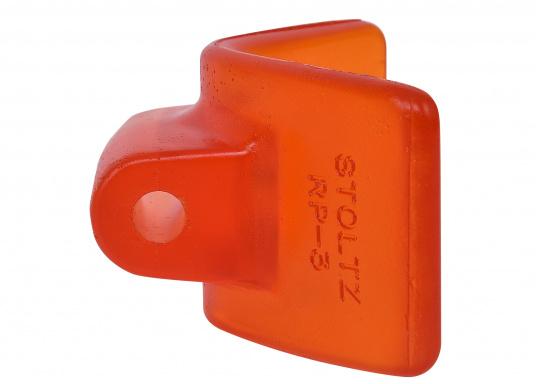 Original Stoltz Bugschutz, hergestellt aus abriebfestem Polyurethan. Für eine Aufnahme von 75 mm. Farbe: orange. (Bild 3 von 4)