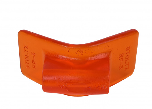 Original Stoltz Bugschutz, hergestellt aus abriebfestem Polyurethan. Für eine Aufnahme von 75 mm. Farbe: orange. (Bild 2 von 4)