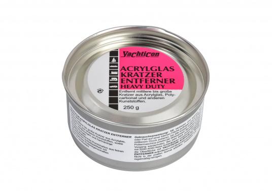 So verschwinden alle Kratzer!Entfernt mittlere bis große Kratzer aus Acrylglas, Polycarbonat und anderen Kunststoffen, sowie Flecken und Verfärbungen.Leicht zu verarbeiten.
