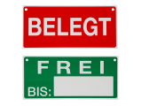 Berth Lable in German