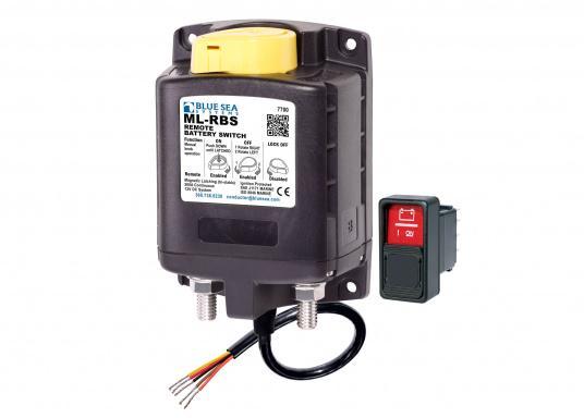 DieserHochleistungs-Batterieschalter erlaubt,Batterien unter hoher Stromlastvon Hand oder per Fernbedienung zu schalten.Über den LED-Ausgang können die Betriebszustände fernüberwacht werden.