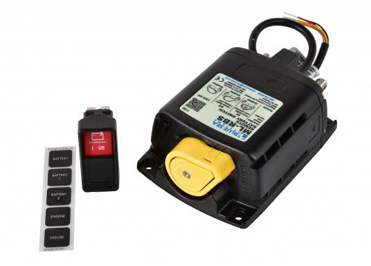 DieserHochleistungs-Batterieschalter erlaubt,Batterien unter hoher Stromlastvon Hand oder per Fernbedienung zu schalten.Über den LED-Ausgang können die Betriebszustände fernüberwacht werden.  (Bild 4 von 6)
