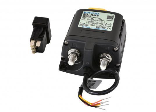 DieserHochleistungs-Batterieschalter erlaubt,Batterien unter hoher Stromlastvon Hand oder per Fernbedienung zu schalten.Über den LED-Ausgang können die Betriebszustände fernüberwacht werden.  (Bild 3 von 6)