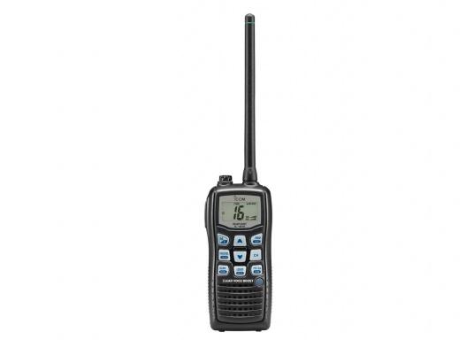 Das UKW-Handfunkgerät IC-M35 setzt auf gute Verständlichkeit und klare Sprache. Die flache Bauweise und die großen Tasten sorgen für eine angenehme Handhabung.