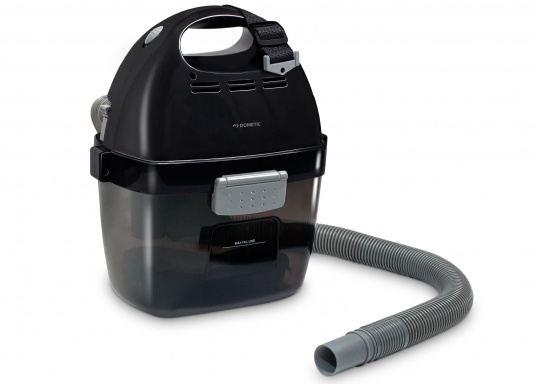 Clean power! This practical vacuum cleaner with built-in battery is ideal for use on board, in the car, caravan or at home. It provides high suction power and allows up to 18 minutes of operation.