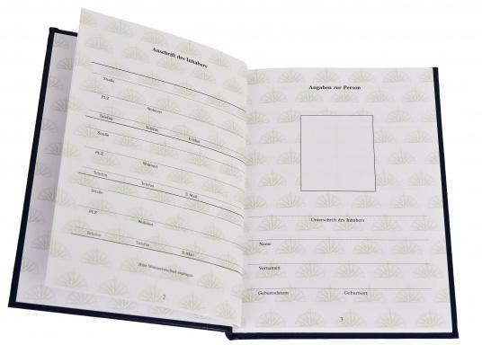 Das Meilenbuch ist notwendig für den Nachweis praktischer Erfahrungen an Bord für die Zulassung zu den Führerscheinprüfungen des SKS, SSS und SHS. (Bild 2 von 4)