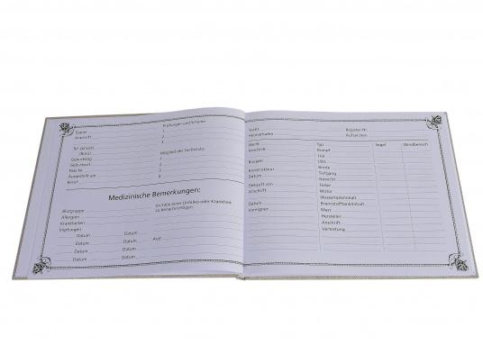 Eine ideale Geschenkidee!Dieses schöne Logbuch, in Segeltuch gebunden, macht die Pflicht zum Vergnügen und bietet Raum für die nautischen Einträge und persönlichen Notizen.Mit Tipps und Bonmots berühmter Segler. (Bild 3 von 9)